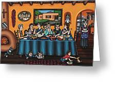 La Familia Or The Family Greeting Card by Victoria De Almeida