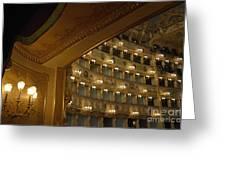 La Fenice Opera Theater Greeting Card by Sami Sarkis
