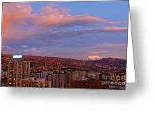 La Paz Twilight Greeting Card by James Brunker