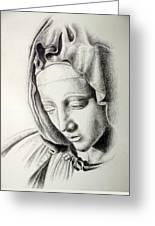 La Pieta Madonna Greeting Card by Heather Calderon