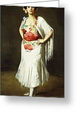 La Reina Mora Greeting Card by Robert Henri