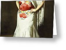La Reina Mora Greeting Card by Robert Henri