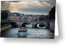 La Seine Greeting Card by Inge Johnsson