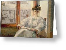 La Signora Massimino Greeting Card by Umberto Boccioni