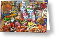 La Table De Fruits De Mer Greeting Card by Dianne Parks