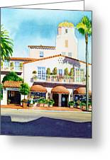 La Valencia Hotel Greeting Card by Mary Helmreich
