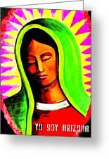 La Virgen Arizona Greeting Card by Michelle Dallocchio