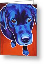 Lab - Olive Greeting Card by Alicia VanNoy Call