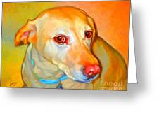 Labrador Painting Greeting Card by Iain McDonald