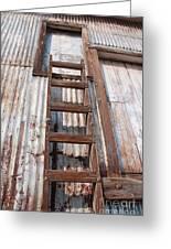 Ladder 1 Greeting Card by Minnie Lippiatt
