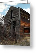 Ladder Against A Barn Wall Greeting Card by Jeff  Swan
