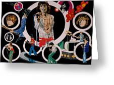 Ladies And Gentlemen -the Rolling Stones Greeting Card by Sean Connolly