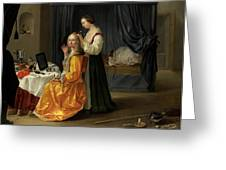 Lady At Her Toilet Greeting Card by Netherlandish School