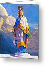 Lady Freedom Greeting Card by Steve Simon