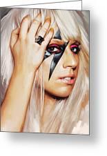 Lady Gaga Artwork 1 Greeting Card by Sheraz A