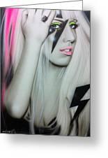'lady Gaga' Greeting Card by Christian Chapman Art
