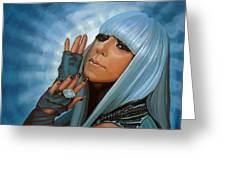Lady Gaga Greeting Card by Paul Meijering