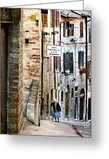 Lady In Urbino Greeting Card by Jennie Breeze