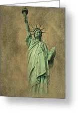 Lady Liberty New York Harbor Greeting Card by David Dehner