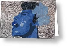 Lady Sings Greeting Card by Aisha Lumumba