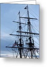 Lady Washington's Masts Greeting Card by Heidi Smith