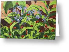 Ladybirds Greeting Card by Andrew Macara