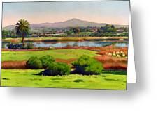 Lago Lindo Rancho Santa Fe Greeting Card by Mary Helmreich