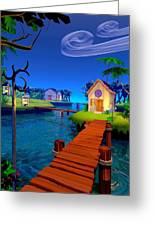 Lagoon Greeting Card by Cynthia Decker