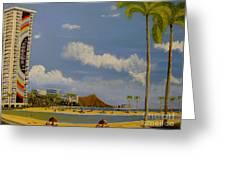 Lagoon On Waikiki Greeting Card by Scott Phillips
