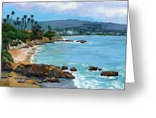Laguna Beach Winter Greeting Card by Alice Leggett