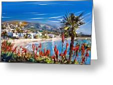 Laguna Sparkle Greeting Card by Russell Pierce