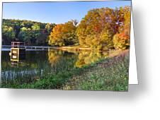 Lake At Chilhowee Greeting Card by Debra and Dave Vanderlaan