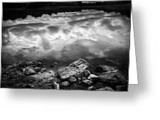 Lake Auburn Twilight Greeting Card by Bob Orsillo