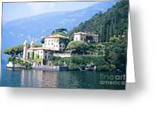 Lake Como Palace Greeting Card by Greta Corens