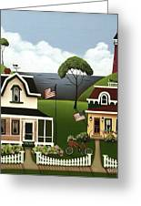 Lake Cottages Greeting Card by Catherine Holman