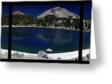 Lake Helen At Mt Lassen Triptych Greeting Card by Peter Piatt