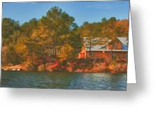 Lake House Greeting Card by Brenda Bryant