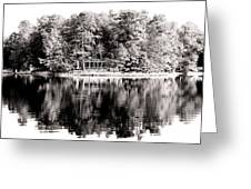 Lake House Greeting Card by John Rizzuto