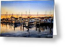 Lake Huron Sunrise Greeting Card by Spencer Meagher