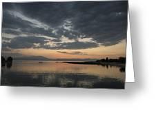 Lake In Sunset Greeting Card by Yavuz Sariyildiz