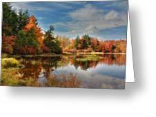 Lake Jean Reflections Greeting Card by Lori Deiter