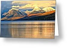 Lake Mcdonald Sunset Greeting Card by Adam Jewell