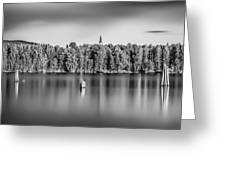Lake Oyeren Greeting Card by Erik Brede