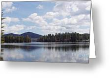Lake Placid Greeting Card by JOHN TELFER