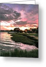Lake Shore Sonata Greeting Card by Christy Usilton