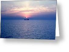 Lake Superior Evening Greeting Card by George Cousins