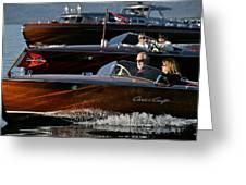 Lake Tahoe Speedboats Greeting Card by Steven Lapkin