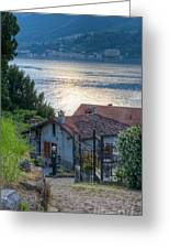 Lake View Down To Lake Como In Italy Greeting Card by Anna-Mari West