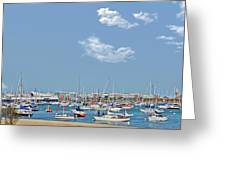 Lakefront Chicago Greeting Card by Christine Till