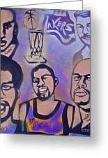 Lakers Love Jerry Buss 1 Greeting Card by Tony B Conscious